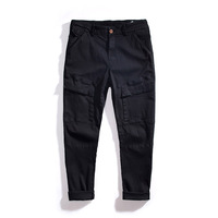 Spring Summer Plus Size Large Men Cargo Pants Cotton Loose Baggy Trousers Male Big Tall Elastic