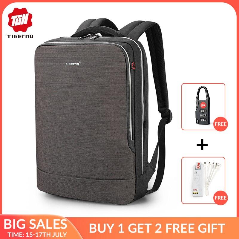 Nouveau Tigernu homme sac à dos 4.0A USB rapide Charge Anti-vol sac à dos mâle pour 15.6 ordinateur portable d'affaires voyage sac à dos hommes Mochila