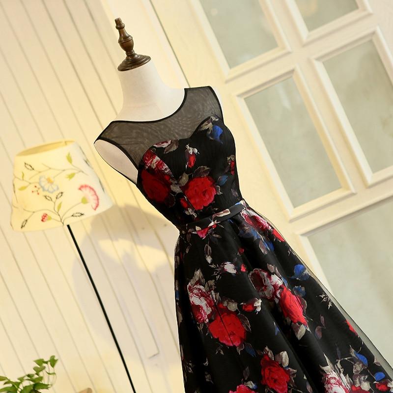 Janevini 2018 impressão floral longo vestidos de