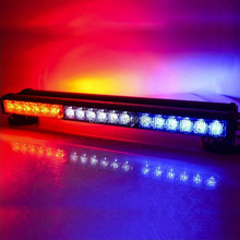120W Light Bar Emergency Warning Flashing Light Car Police Strobe Flash Light Bar DC 12V 36 LED Red/White/Blue
