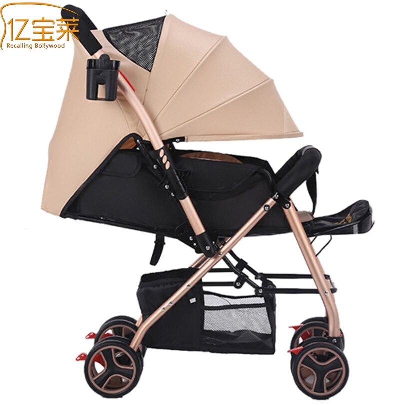 2017 Baby Stroller Car Portable Umbrella Stroller Lightweight Folding Stroller Fashion Sit Or