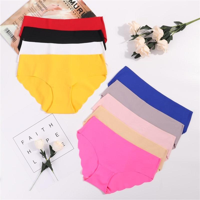 Ladies Underwear Woman   Panties   Sexy Lace Plus Size   Panty   Transparent Low-Rise Cotton Briefs Intimates New Hot Sale drop