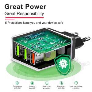 Image 4 - 빠른 충전 3.0 벽 충전기 3 포트 usb eu 미국 플러그 ipad 태블릿 전화 빠른 충전 여행 어댑터 안드로이드 빠른 충전기