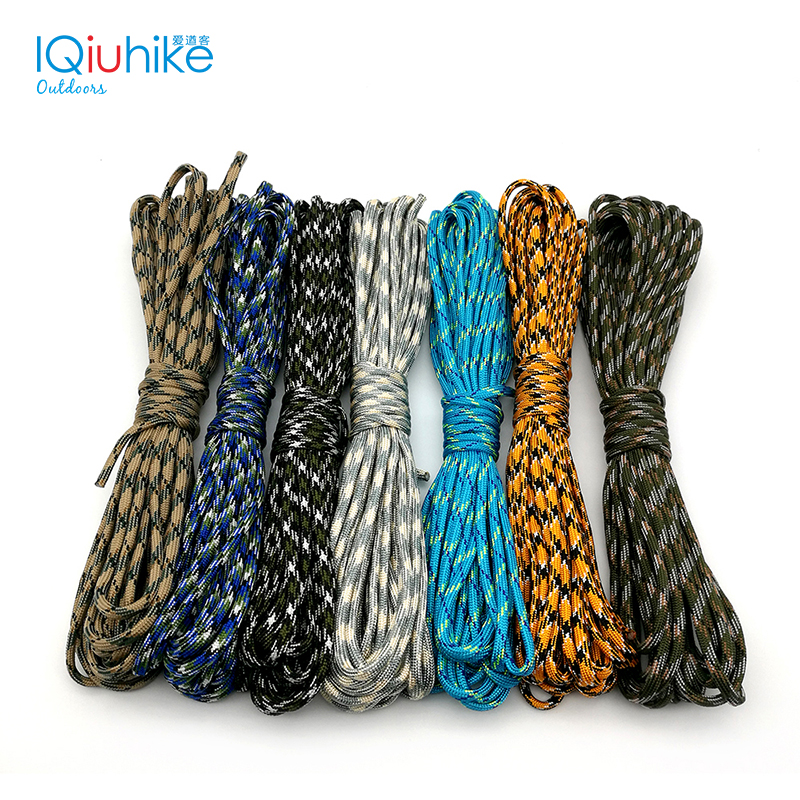 IQiuhike 200Colors Paracord 550 Parachute Cord Lanyard Rope Mil Spec Type III 7 Strand 5Meters Climbing Camping Survival Equipme bobbi brown touch up brush кисть для нанесения теней и тональных средств touch up brush кисть для нанесения теней и тональных средств