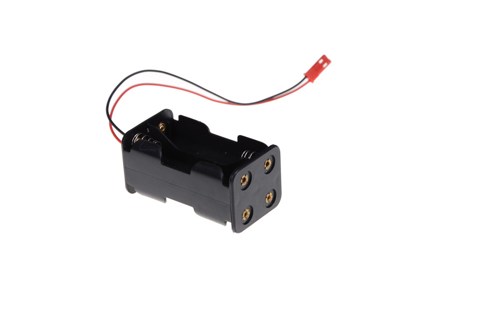 Receiver <font><b>Battery</b></font> Pack Case Box 4 x AA <font><b>JST</b></font> Connector <font><b>Battery</b></font> Insert Compartment for 1/8 1/10 1/16 RC Hobby Model Nitro Car HSP