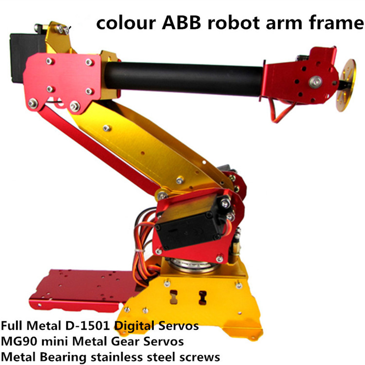 ABB colour Industrial robot 6 DOF robot arm Full Metal + Digital Servos for Teaching and Experiment 6-Axis Desktop Robotic Arm полюс abb 1sca105461r1001