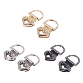 2pcs Metal Heart Shape Clasp Turn Lock Twist Locks for DIY Handbag Shoulder Bag Purse Hardware THINKTHENDO 2019 New
