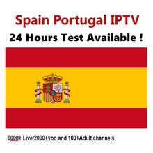 1 YEAR IPTV Spain subscription 6000+Live/2000+vod M3U Portuga IPTV French IPTV Support Andorid Enigma2 Smart tv PC Mag250 TV BOX(China)