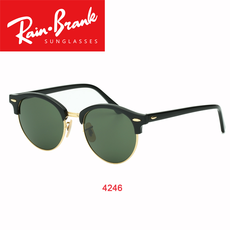 brand Sunglasses model 4246 round for women man with real UV400 sun glasses  lenses male female Shades with packages  accessories-in Sunglasses from  Apparel ... a73e170a08b1