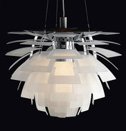 EMS Free Shipping Hot Selling Wholesale Louis Poulsen PH Artichoke Lamp White Denmark Modern Suspension Pendant Light denmark classic design lamp louis poulsen artichoke pendant light aerospace aluminum 38cm 48cm pine cones echinacea light