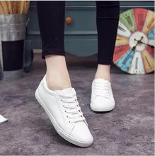 Women Sneakers Spring Feminino Lace-up White Canvas Shoes Women Pu Solid Color Female Shoes Casual Board Shoes Women Shoes