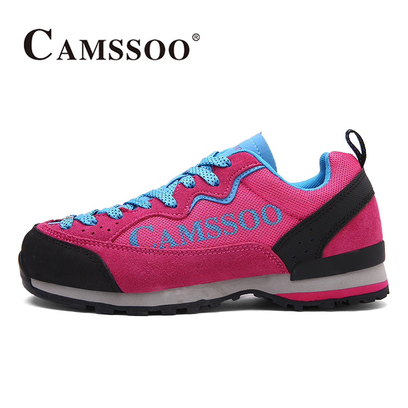2017 Camssoo Outdoor Hiking Shoes For Womens Breathable Climbing Sports Shoes Light Weight Walking Shoes Free Shipping 3093