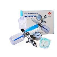 Oxygen Inhaler Buoy oxygen inhalator Oxygen Cylinder flow Meter Reulating valve with two pcs Tide bottle and Nasal tube