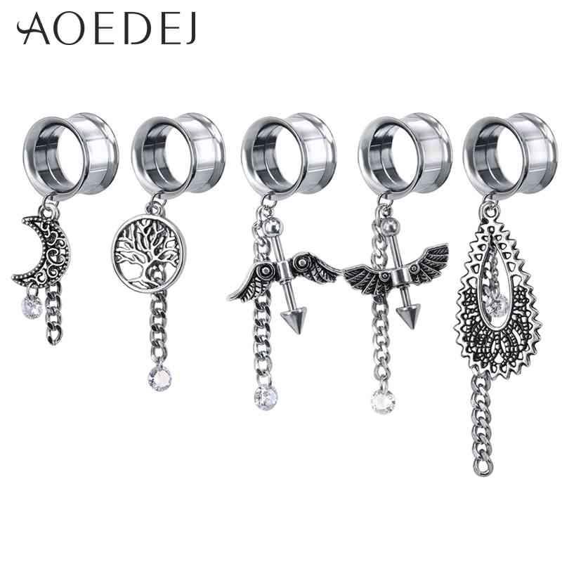 Covet Jewelry Solid Acrylic Black Saddle Plug