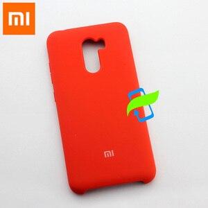 Image 3 - Xiaomi PocoPhone F1 étui en Silicone liquide étui de protection pour XIAOMI PocoPhone F1 Poco Silicone mince luxe housse arrière