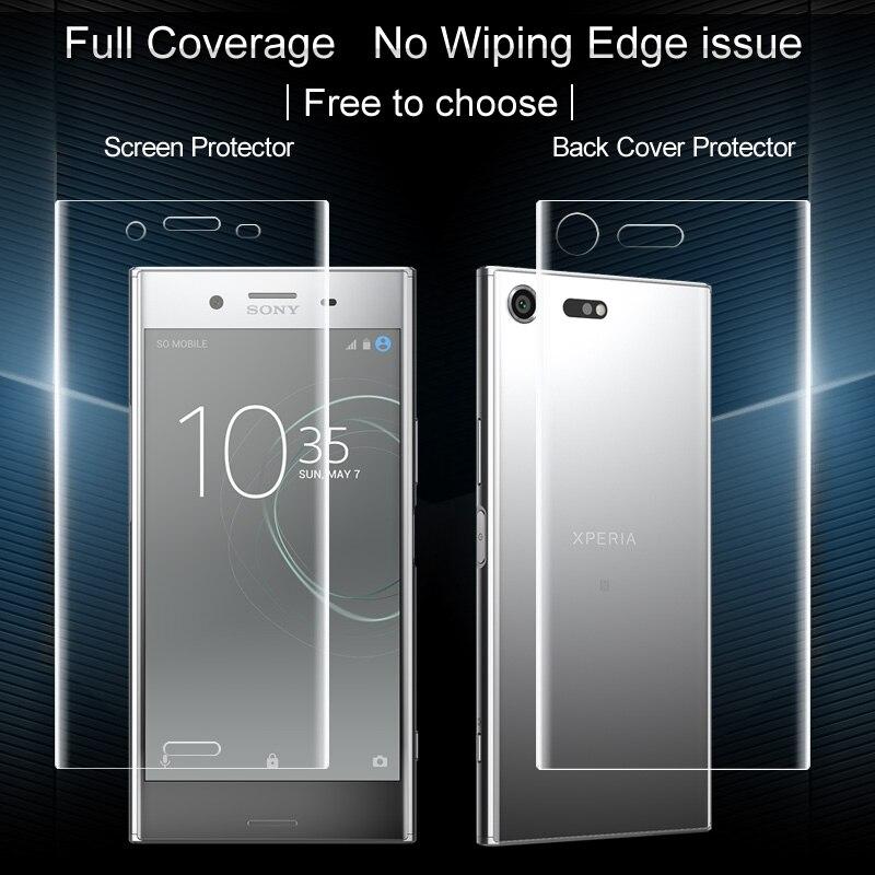bilder für Für Sony Xperia XZ Premium Displayschutzfolie 2 STÜCKE IMAK Full Abdeckung vorderseite + Rückseite Weiche Hydrogel Displayschutzfolie Für Sony XZ Premium