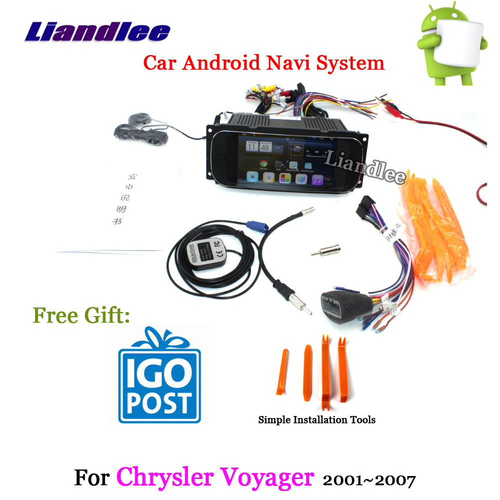 Liandlee Car Android System For Chrysler Voyager 2001~2007 Radio Stereo Carplay Wifi GPS Navi MAP Navigation Screen Multimedia liandlee car android system for toyota ipsum picnic 2001 2009 radio stereo camera bt gps navi map navigation screen multimedia