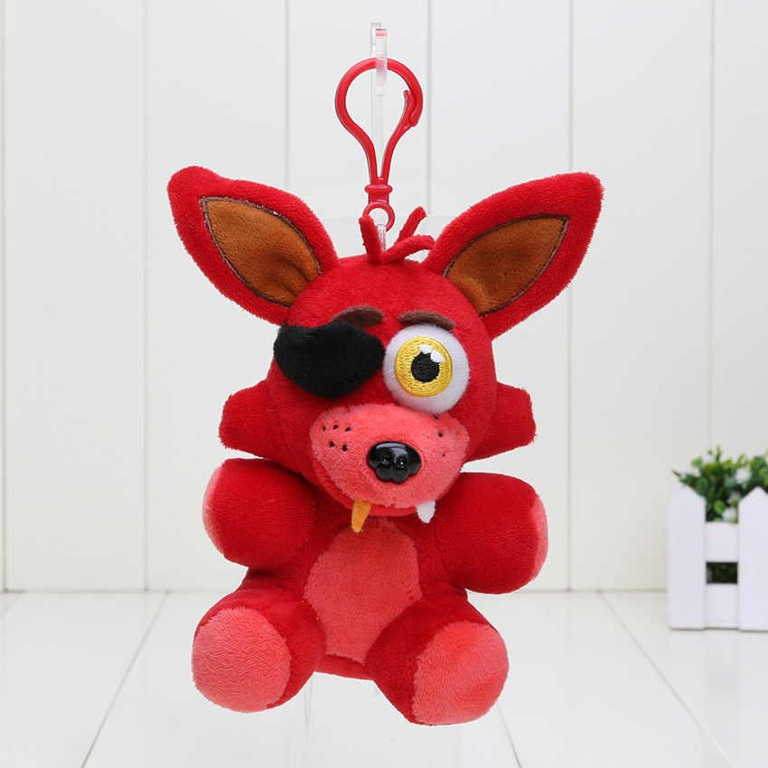 14 Cm Fnaf Foxy Chica Bonnie Golden Freddy Mimpi Buruk Fredbear Bear Gantungan Kunci Lima Malam Di Freddy Ini 4 Liontin Mewah mainan