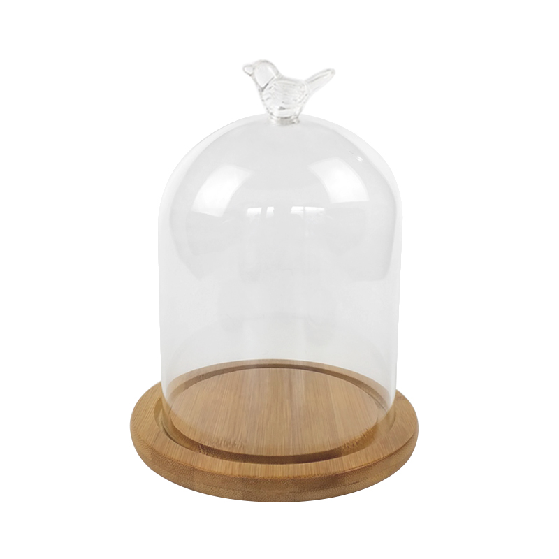 Glass Display Cloche Bell Jar Dome Rose Immortal Preservation Gift Collection