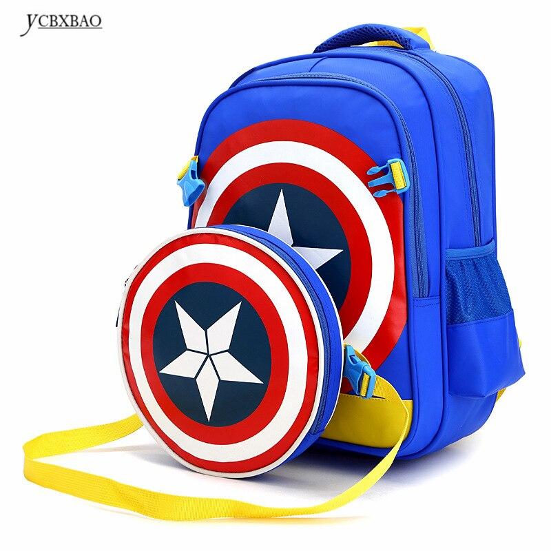 Cartoon combination backpack children schoolbag school student book bag boy kids girl bags Multi Colors Children Mochila