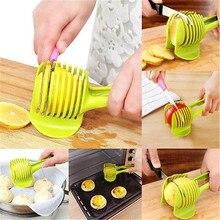 Plastic Potato SlicerTomato Cutter Tool Handheld Lemon Cutting Shreadders Holder Vegetables Onion Fruit Cooking Kitchen Tools