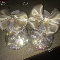 Christening Bling Ivory Wedding Flower Girl Shoes 0 1 Baby Princess INS Hot Fashion ETSY Supplier