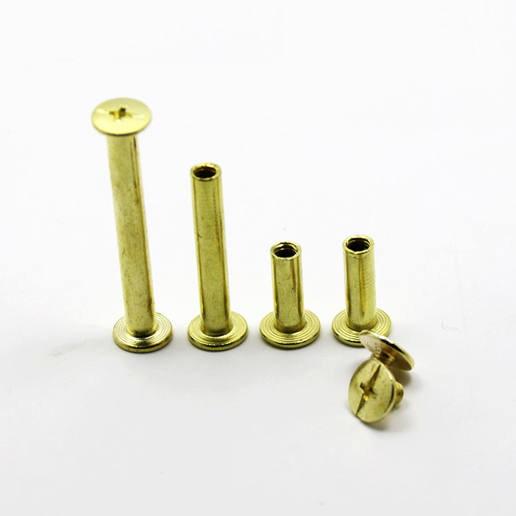 M5 заклёпки для матери, стыковочные пары, винты с крестообразным соединением, болты для книг, альбомный болт, длина 5 мм-100 мм, медное покрытие