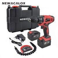 NEWACALOX destornillador eléctrico Taladro Inalámbrico carga 16 V DC de la batería de iones de litio 2 velocidad Mini destornillador inalámbrico de energía conductor