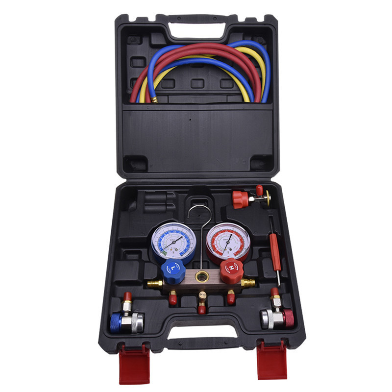 Air Conditioning Refrigerant Pressure Gauge Group R12 R22 R134a R404a 410a Car Air Conditioning Repair Fluorine Filling Tool harbll r134a universal automotive air conditioning compressor disassembly tool wrench car air conditioning repair tools kit