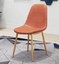 купить Dining chair home back desk chair wrought iron modern minimalist European restaurant tea coffee shop leisure chair дешево