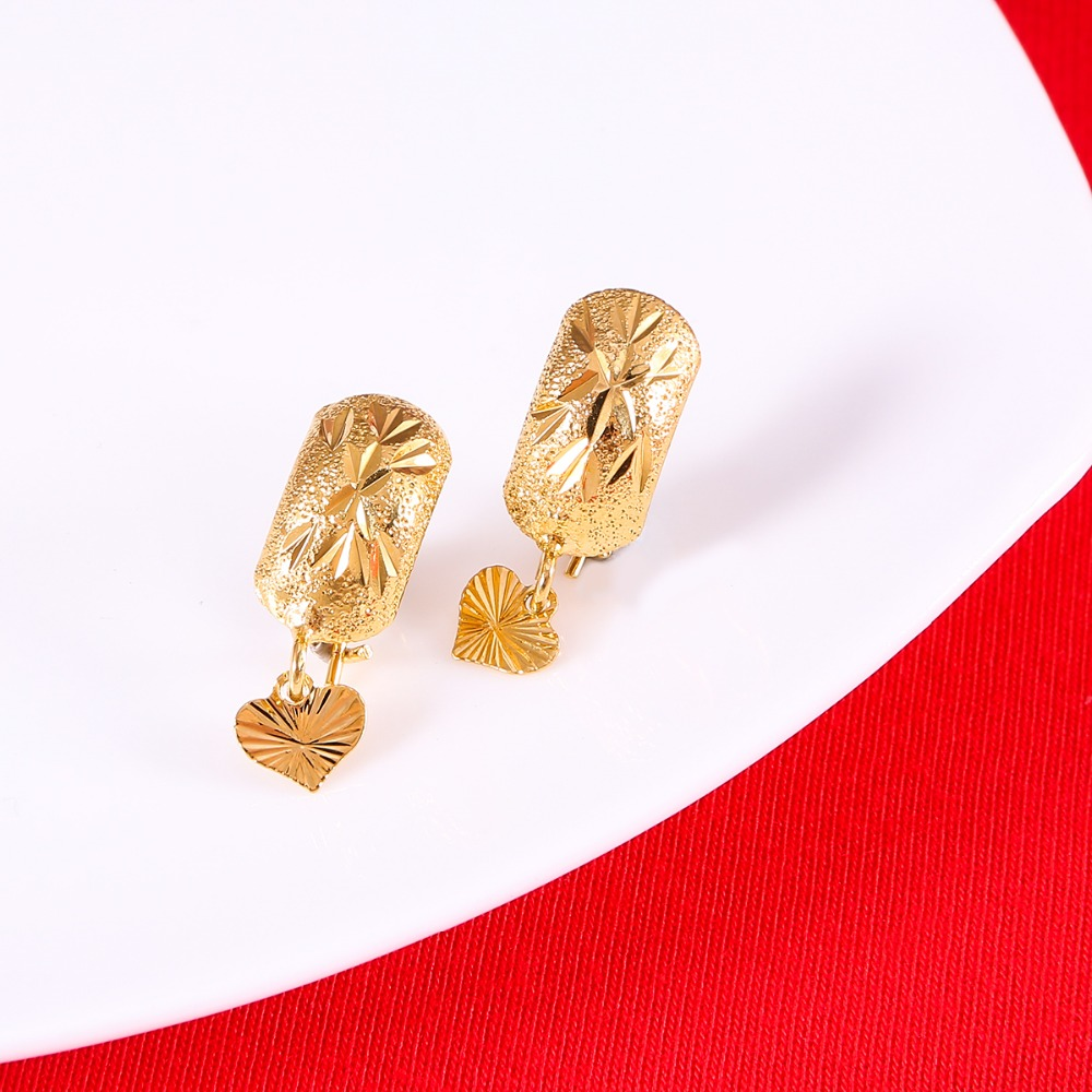 Ethiopian Nigeria Kenya Ghana Yellow Gold Earrings Dubai Arab Middle Eastern Jewelry Mom Gifts In Stud From Accessories On
