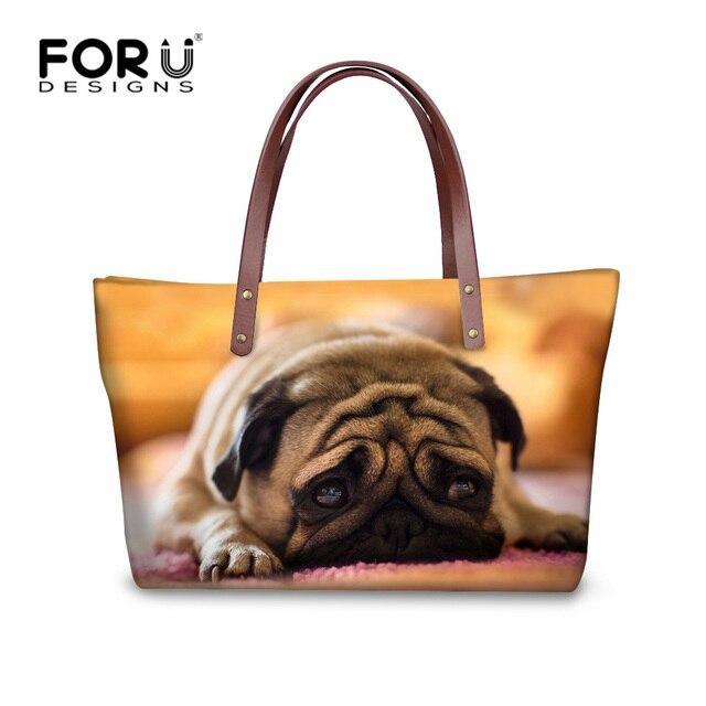0448950e6 FORUDESIGNS lindo cachorro perro de las mujeres bolsa de neopreno de chicas  de la Universidad bolso