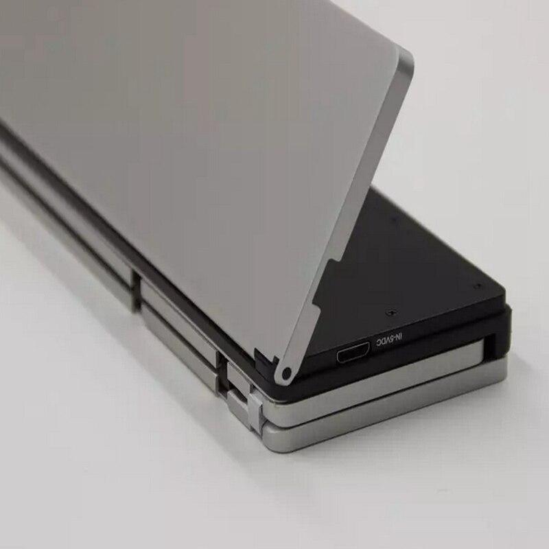 NEW Fashion Intelligent Pocket Foldable Wireless Bluetooth 3.0 Travel Keyboard Keypad for ipad mini 1 2 3 7.9 PCs tablet phones