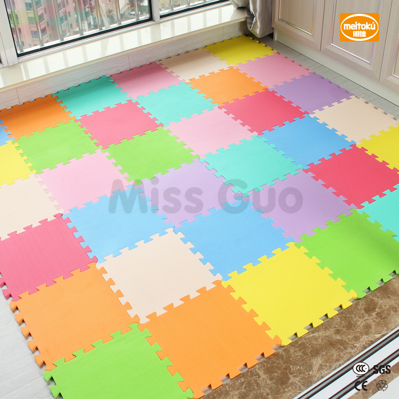 Meitoku baby EVA Foam Play Puzzle Mat/ 18 or 24/lot Interlocking Exercise Tiles Floor Mat for Kid,Each 30cmX30cm,1cmThick cute letter eva foam baby toy puzzle play mat interlocking game exercise gym tile floor pad child kid 30x30x1 3cm 30pcs 22border