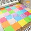 Meitoku baby EVA Foam Play Puzzle Mat/ 18 or 24/lot Interlocking Exercise Tiles Floor Mat for Kid,Each 30cmX30cm,1cmThick