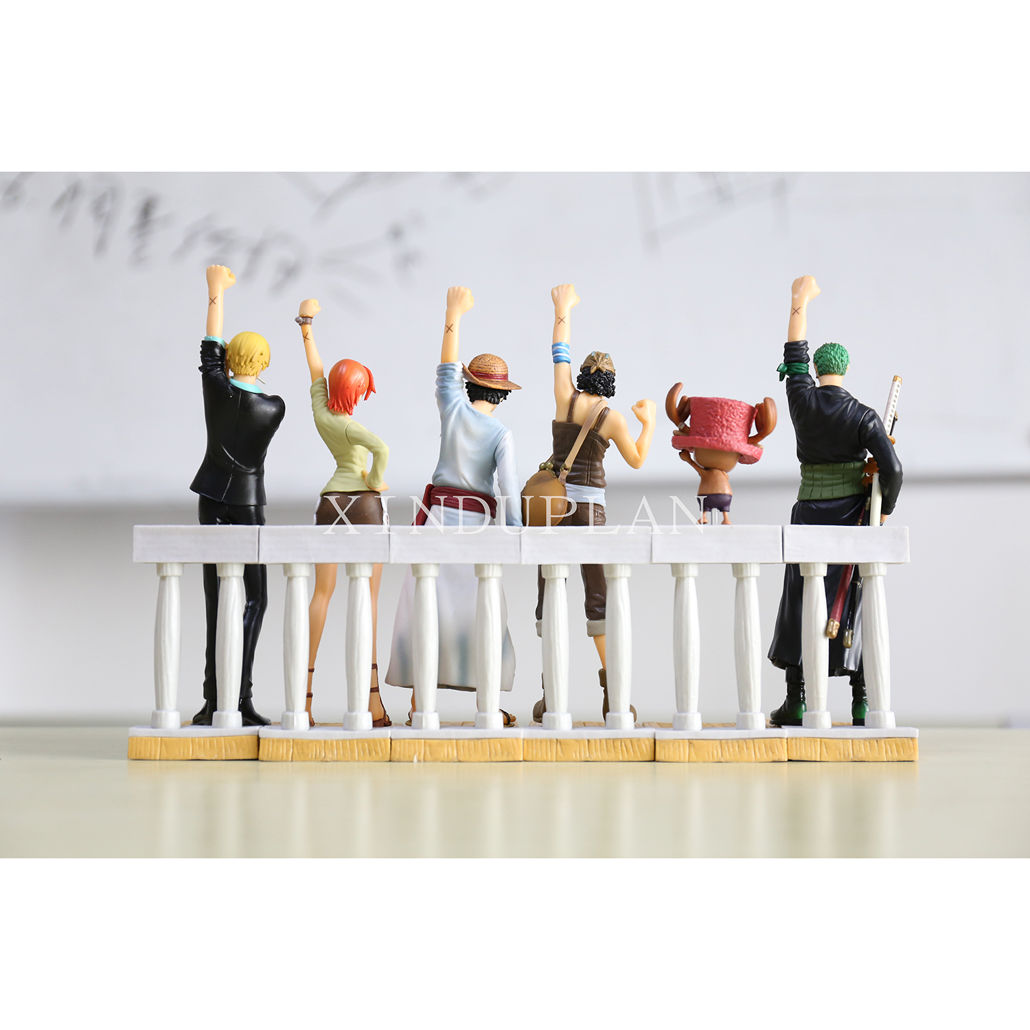 XINDUPLAN One Piece Anime Alabasta Straw Hat Pirates Luffy Zoro Sanji Nami Chopper Onepiece Action Figure Toy 6PCS Model 0075 one piece action figure roronoa zoro led light figuarts zero model toy 200mm pvc toy one piece anime zoro figurine diorama