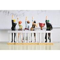 XINDUPLAN One Piece Anime Alabasta Straw Hat Pirates Luffy Zoro Sanji Nami Chopper Onepiece Action Figure Toy 6PCS Model 0075
