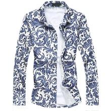 2018 New Summer Plus Size M-7XL Men Dress Shirts Classical Design High Quality Business Long Sleeve Formal Cotton