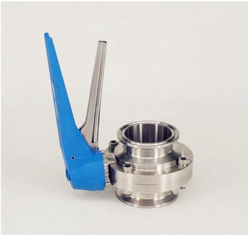 """2'' 51mm Pipe OD 2"""" Tri Clamp Sanitary Butterfly Valve Flow Control Squeeze Trigger Homebrew SUS 304 Stainless Steel"""