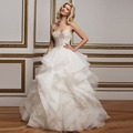 Vestido De Novia Ball Gown Sweetheart Vintage Wedding Dress Luxurious Crystal Bridal Dresses Robe De Mariage 2016 New