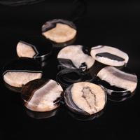 15.5strand Large Natural Geode Agates Drusy Flat Round Slab Connector Beads,Raw Onxy Quartz Druzy Coin Slice pendants Jewelry