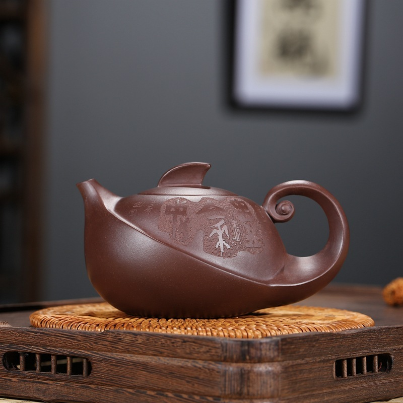 Sandpot Yunhai Yixing Ore Mine Concentrate Purple Sand Pot/Home Collection Old Purple Mud Bottle Carving 300 CCSandpot Yunhai Yixing Ore Mine Concentrate Purple Sand Pot/Home Collection Old Purple Mud Bottle Carving 300 CC