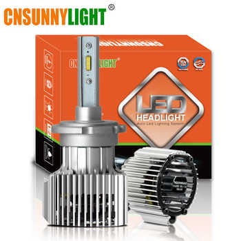 CNSUNNYLIGHT D1S D2S D3S D4S D2H LED Car Headlight Bulbs Bi-beam 8500Lm CSP Led Chips Automotive Lights For Car Projector Lens