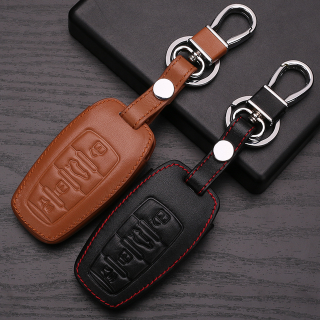 Car Keyring For Great Wall Car Key Case For Hover H1 H 3 H6 H2 H5 C50 C30 4 Button Wallet Key Chain For Great Wall Car Keyring