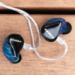 New KINERA H3 In Ear Earphone Dynamic With 2BA Hybrid 3 Unit HIFI Earphone Earbud Headset Monitor Earphone
