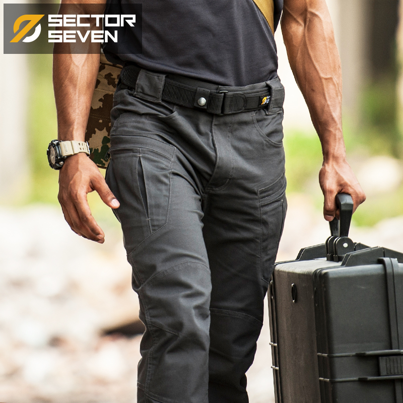 Sector Seven IX8 Waterproof Tactical War Game Cargo Pants Mens Silm Casual Pants Mens Trousers Army Military Pants Lycra Fabric