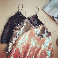 BLING sparkles, small sown women, 2018 spring summer new Korean version V collar sleeveless waistcoat tops
