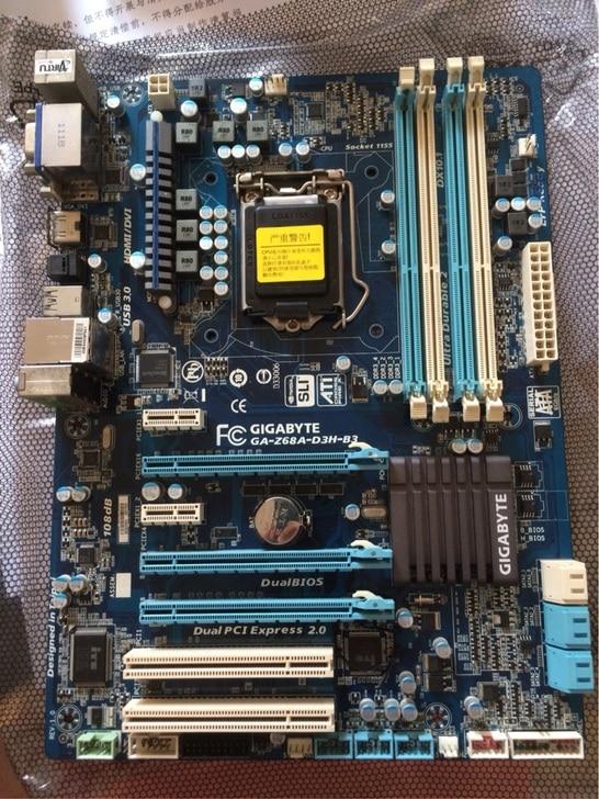 все цены на  GA-Z68A-D3H-B3 Desktop motherborad LGA 1155 DDR3 Z68 32GB for i3 i5 i7 Z68A-D3H-B3 board 100% tested working  онлайн