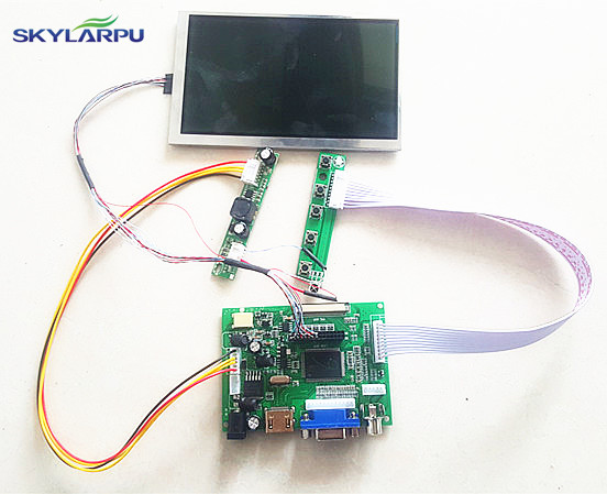 skylarpu 5.6 inch High resolution 1024*600 LCD Screen TFT Monitor Remote Driver Control Board 2AV HDMI VGA for Rasbperry Pi auo 10 4 inch tft a104sn03 v1 lcd screen driver board