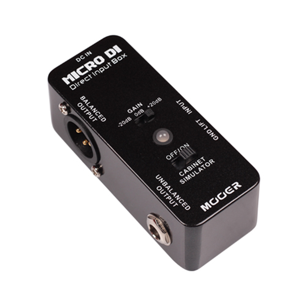 Mooer MICRO DI Guitar Effect Pedal Micro Mini MICRO DI Cabinet Simulator Effect Pedal With LED Light MDT1